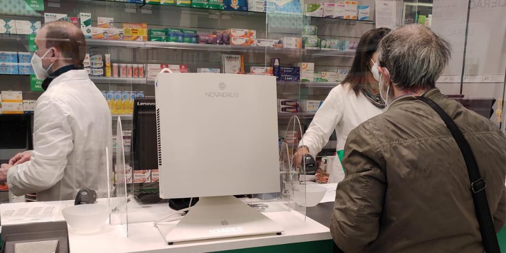 sicurezza farmacia disinfezione dell'aria NV800