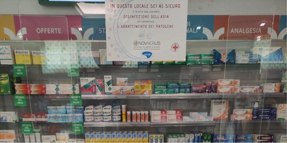 sicurezza farmacia disinfezione dell'aria